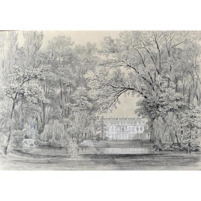 Félix Benoist (1818-1896), l'Elysée Vue Des Jardins, Mine Graphite