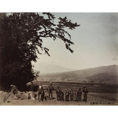 Kusakabe Kimbei (1841-1934) Fuji From Kashiwabara Tokaido Circa 1880 Albumin Print