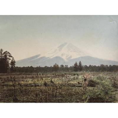 Kusakabe Kimbei (1841-1934) Fuji From Yoshida, Japan Circa 1880 Albumen Print