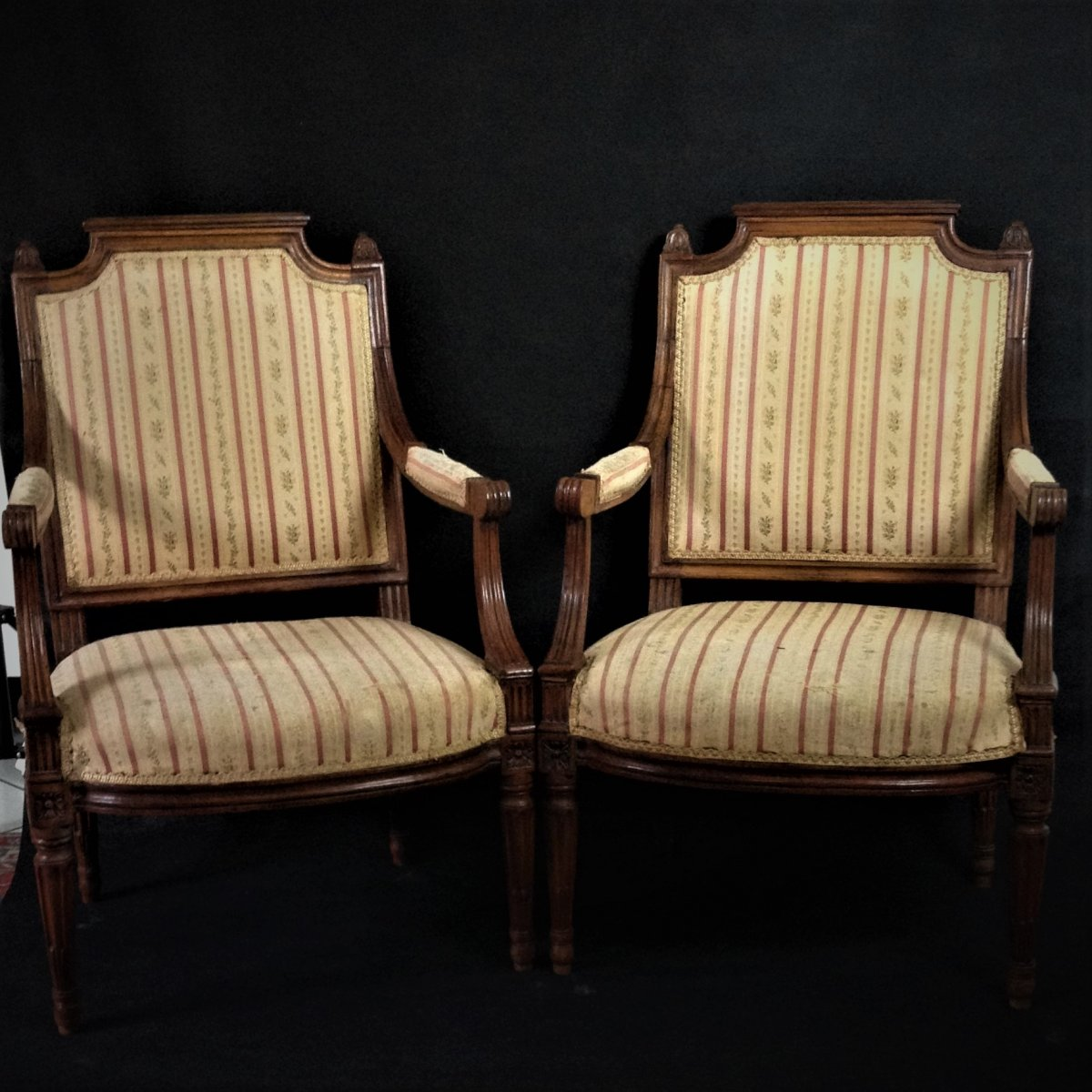 Pair Of Louis XVI Cabriolet Est From Pierre Achard