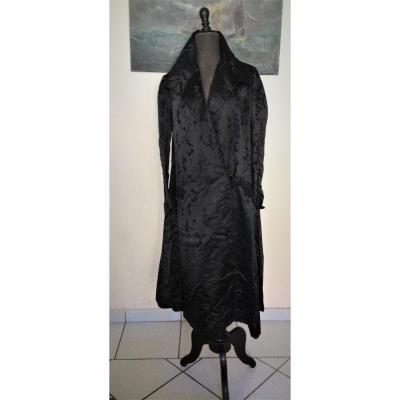 Robe de chambre ou intérieur XIX siècle en soie
