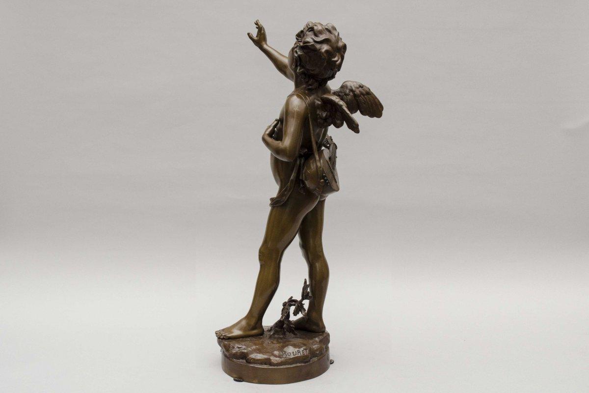 """bronze """"AMOUR CHANTEUR"""" de BOURET EUTROPE, Paris 1833 - 1906-photo-2"""