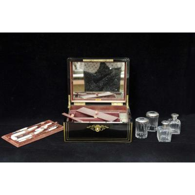 Men's Toiletries In Original Wooden Box, France Napoleon III Period