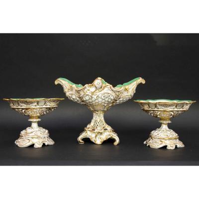 Garniture En Porcelaine De Cappellemans à Bruxelles, 19e Siècle