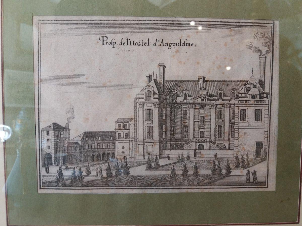Hotel d'Angoulème  et de Lamoignon : Paris. Vue du  XVII Siècle-photo-3