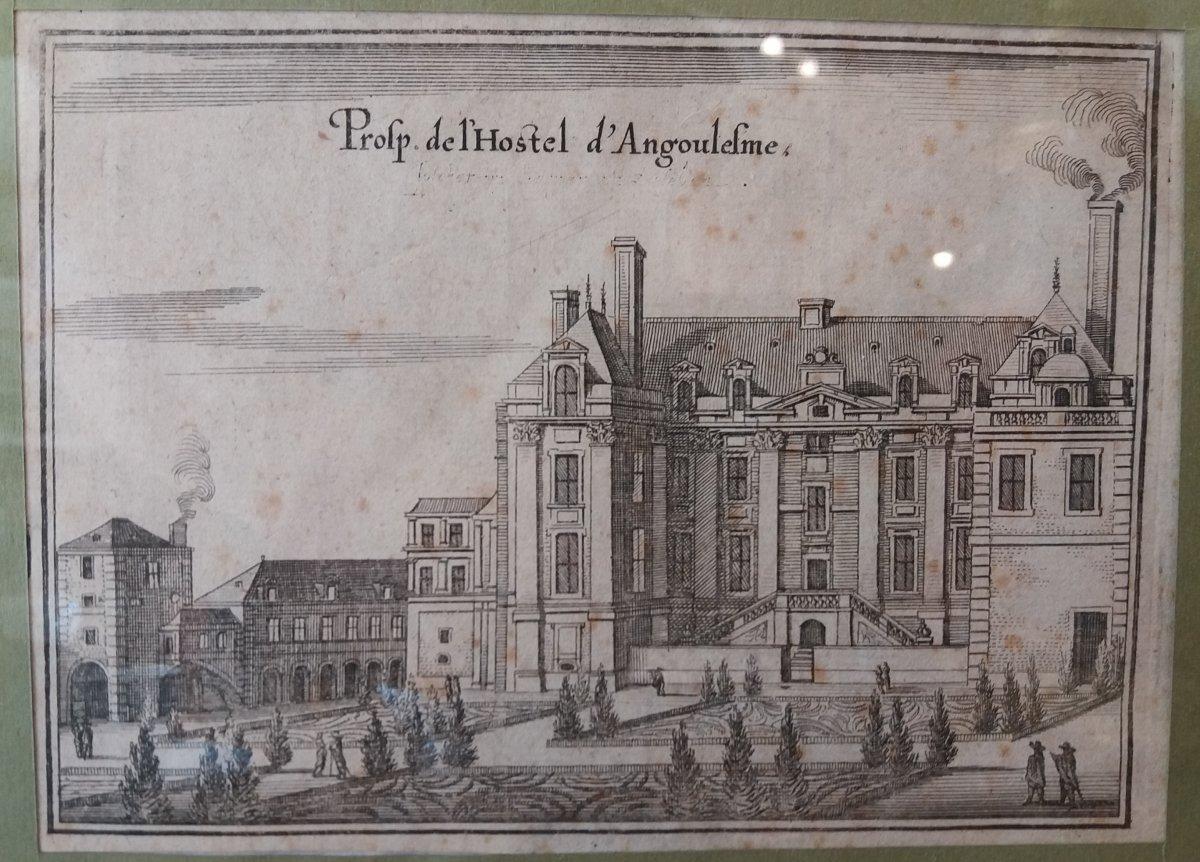 Hotel d'Angoulème  et de Lamoignon : Paris. Vue du  XVII Siècle