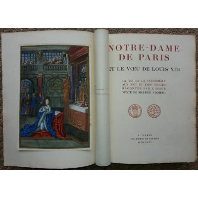 Notre Dame Of Paris And The Vows Of Louis XIII: Vloberg 1926