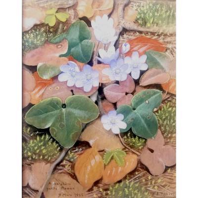 Watercolor Paul André Robert 1935