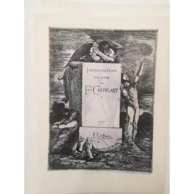 Improvisations Sur Cuivre F. Chifflart Vers 1865