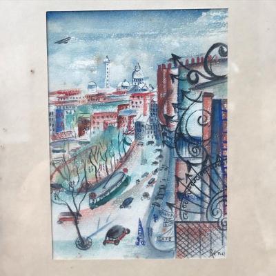 Vue Du Sacré-coeur Par Irène Reno, Vers 1920