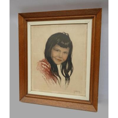 Roger Hebbelinck (1912-1987) Large Lithograph - Young Mexican