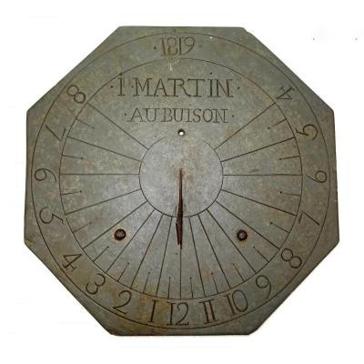 Sundial Octagonal Dedication - Dated 1819 In Slate