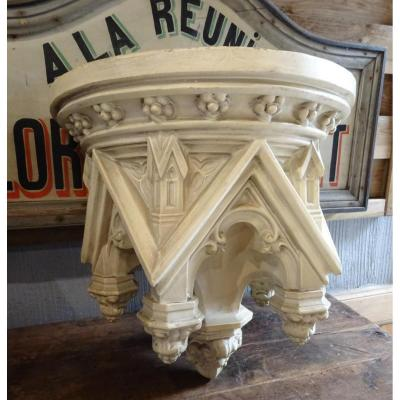 Large Console 19th Gothic Applique Terracotta