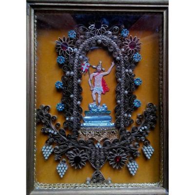 Reliquary Frame Paperolles - Saint Martin