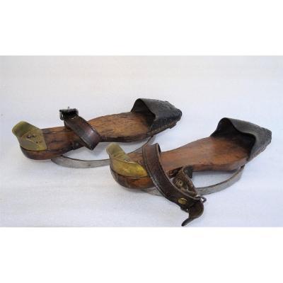 Pair Of Soques Or Mud Skates