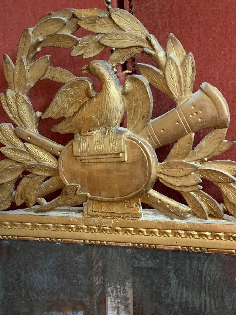 Grande Glace Louis XVI Aux Attributs De Musique -photo-3