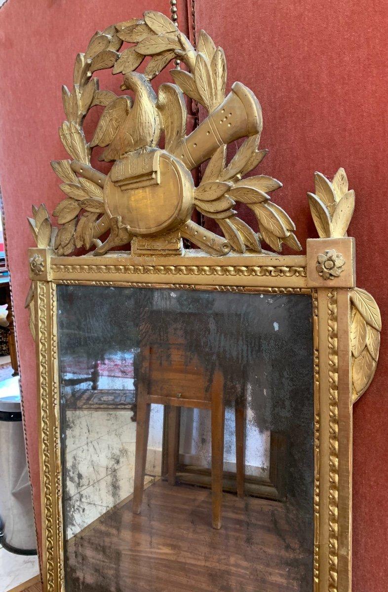 Grande Glace Louis XVI Aux Attributs De Musique -photo-4