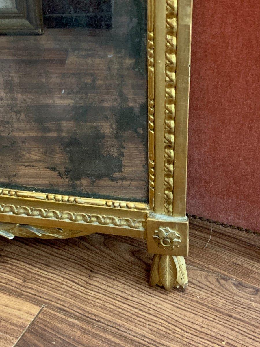 Grande Glace Louis XVI Aux Attributs De Musique -photo-1