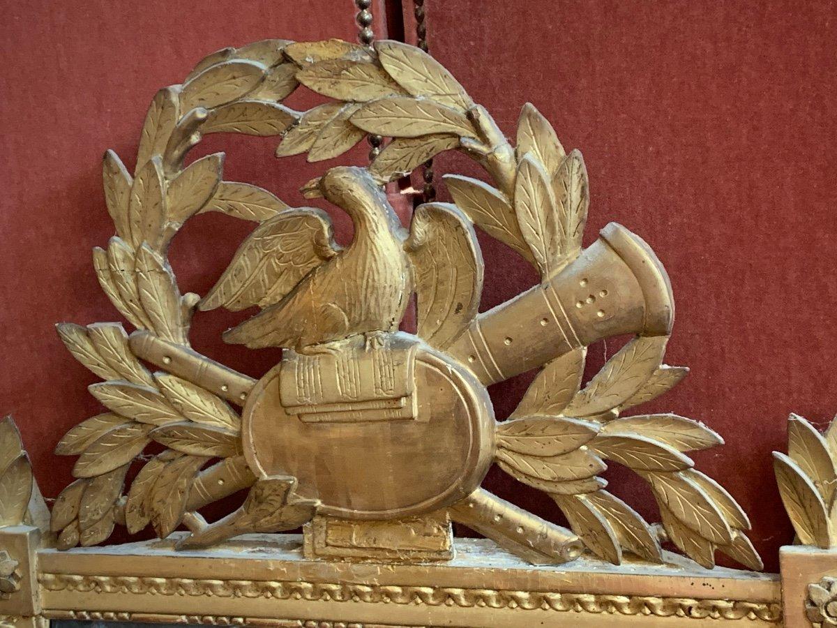 Grande Glace Louis XVI Aux Attributs De Musique -photo-2