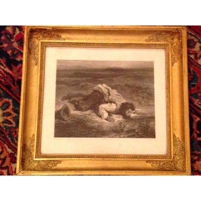 Lithographie Par Eugène Delacroix Circa 1860