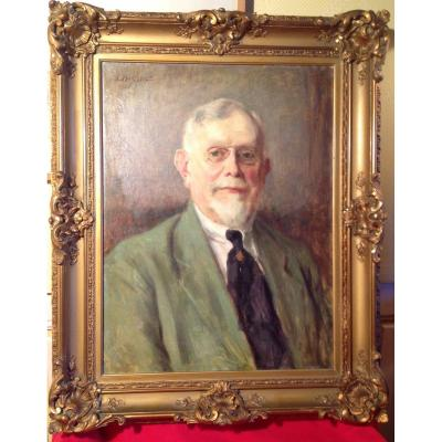 Portrait Of A Man By Louis Buisseret 1920