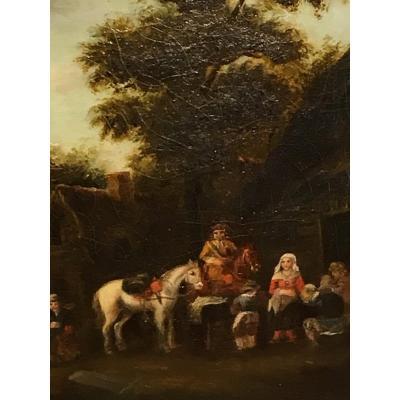 Suiveur De Teniers, Halte à L'auberge