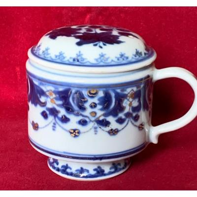 Small Chinese Porcelain Covered Pot