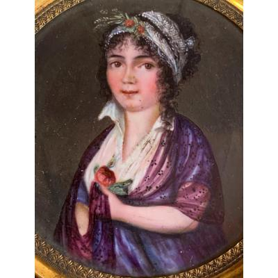 Portrait Of Young Woman Circa 1820