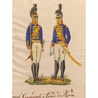 "Drawing ""la Guarda Real In 1806"""