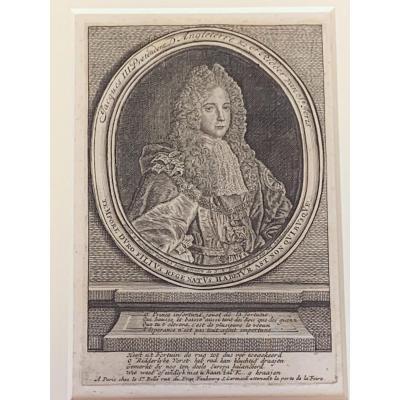 Engraving Jacques III Stuart Circa 1700
