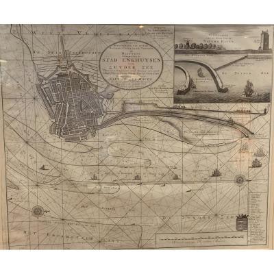 Large Dutch Map Of Nieuwe Zee Haven