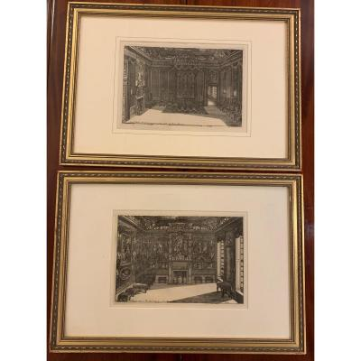 Pair Of Engraving From 1712 By Daniel Marot
