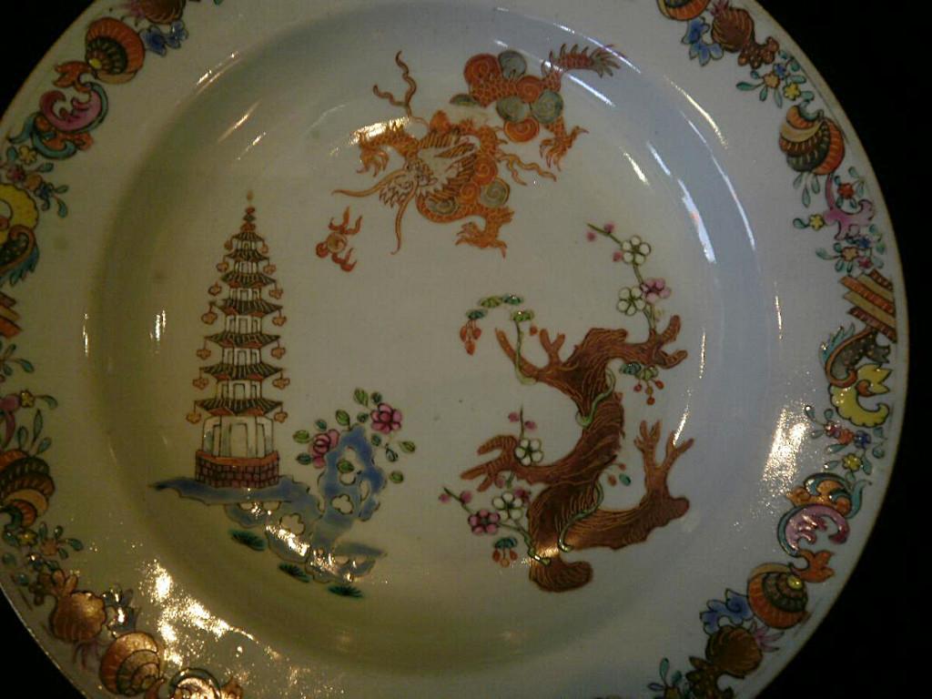 Chine – XVIIIème- Assiette-photo-2