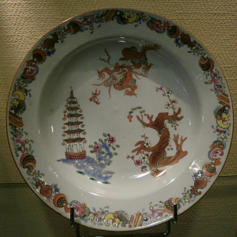 Chine – XVIIIème- Assiette-photo-1