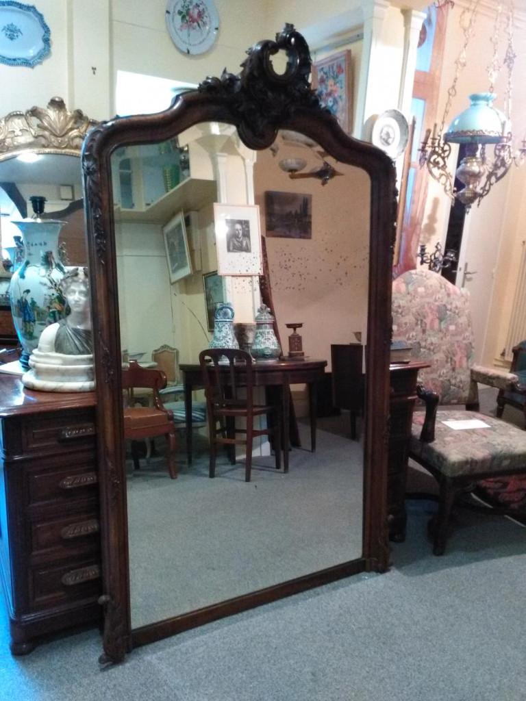 Miroir Rocaille En Noyer - XIXème