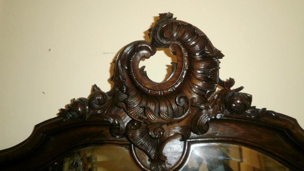 Miroir Rocaille En Noyer - XIXème-photo-2