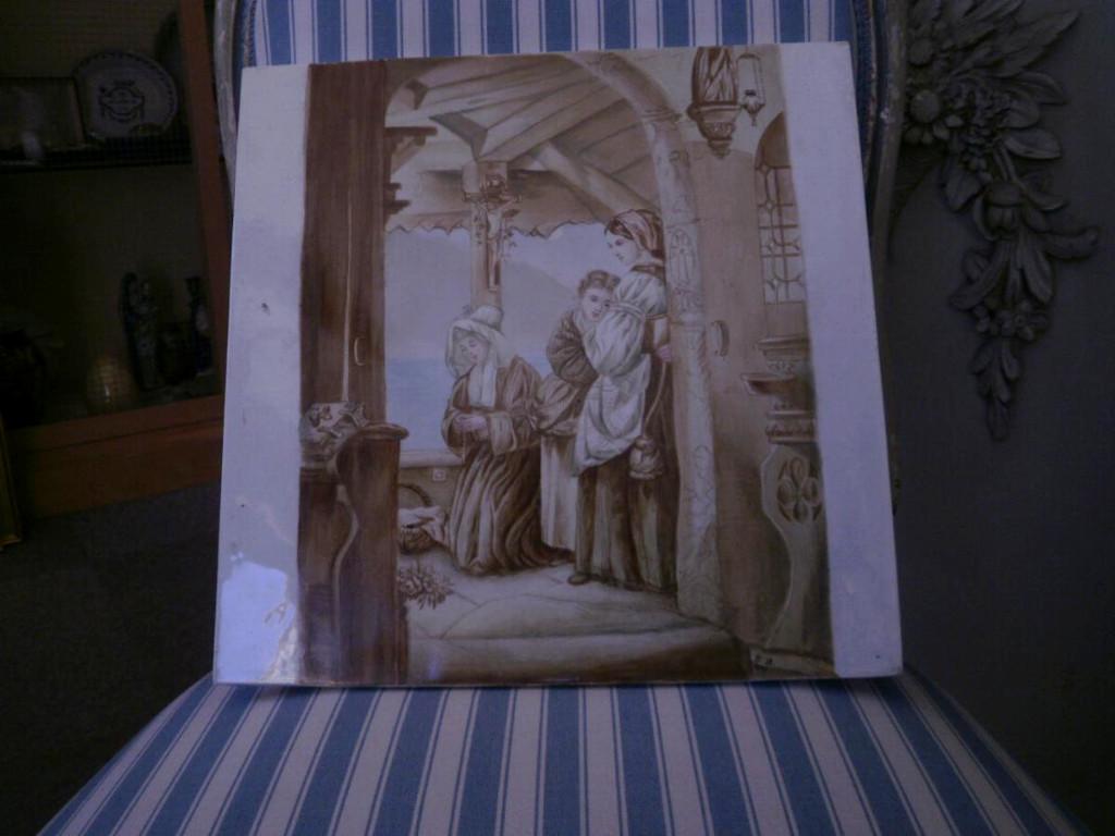 Porcelaine De Creil Et Montereau – Plaque Décorative