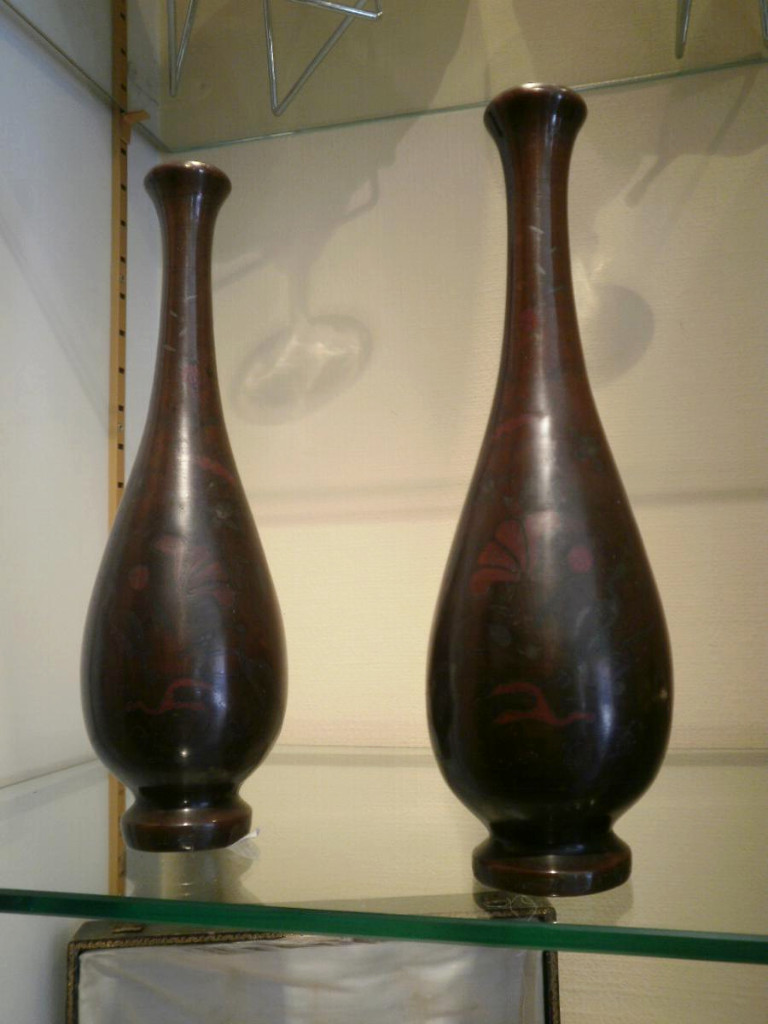 Paire De Vases De Chine – Bronze – XIXème