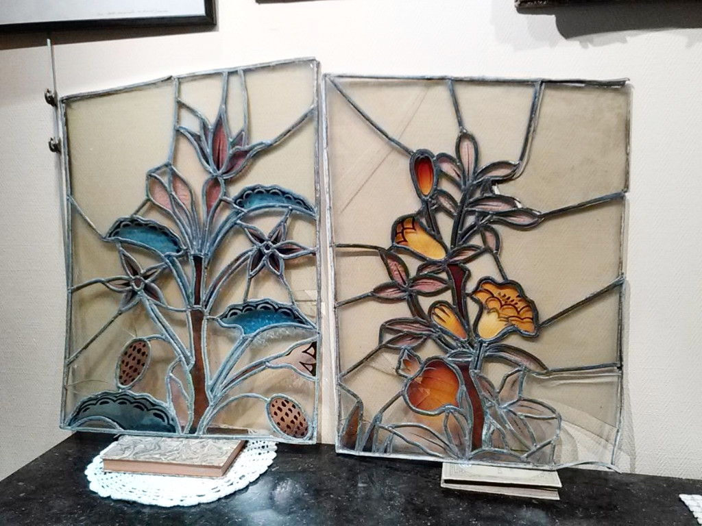 Two Stained Glass - Art Nouveau - XXth C.