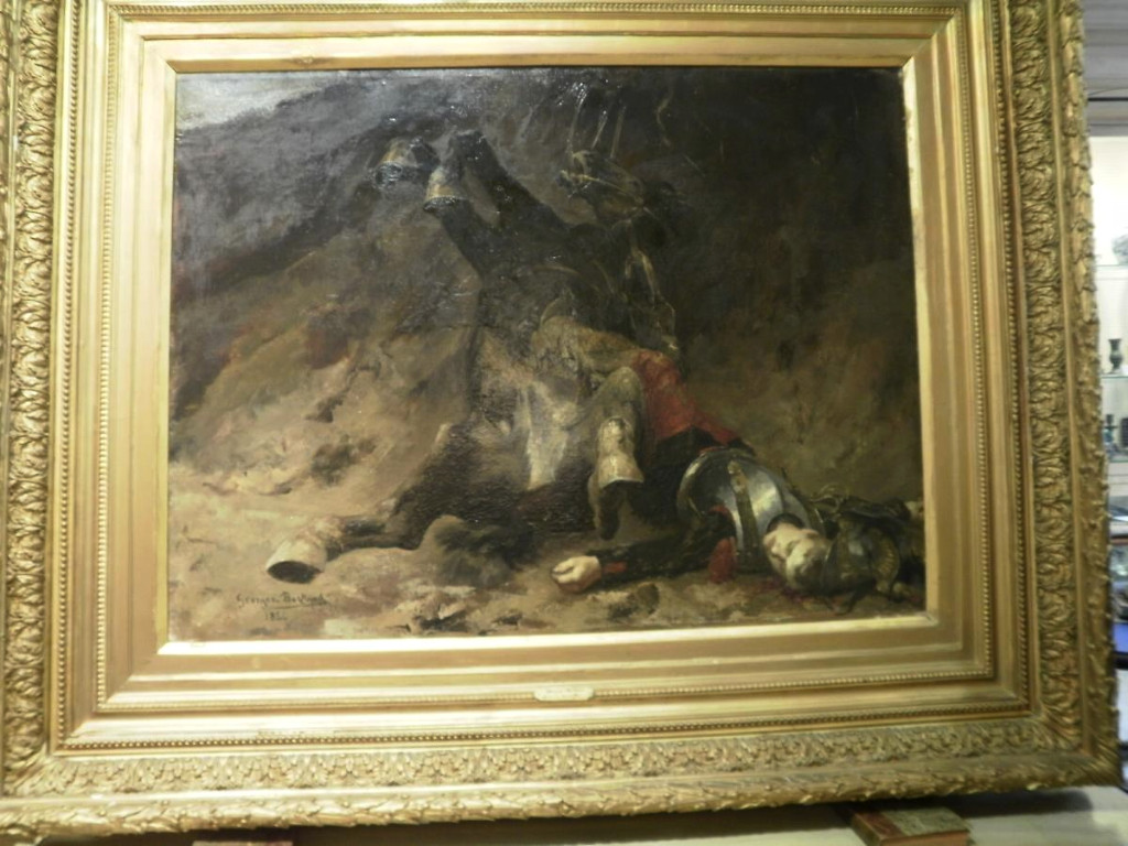 Tableau De Georges Bertrand – Le Soir A Reichsoffen - 1870-photo-2