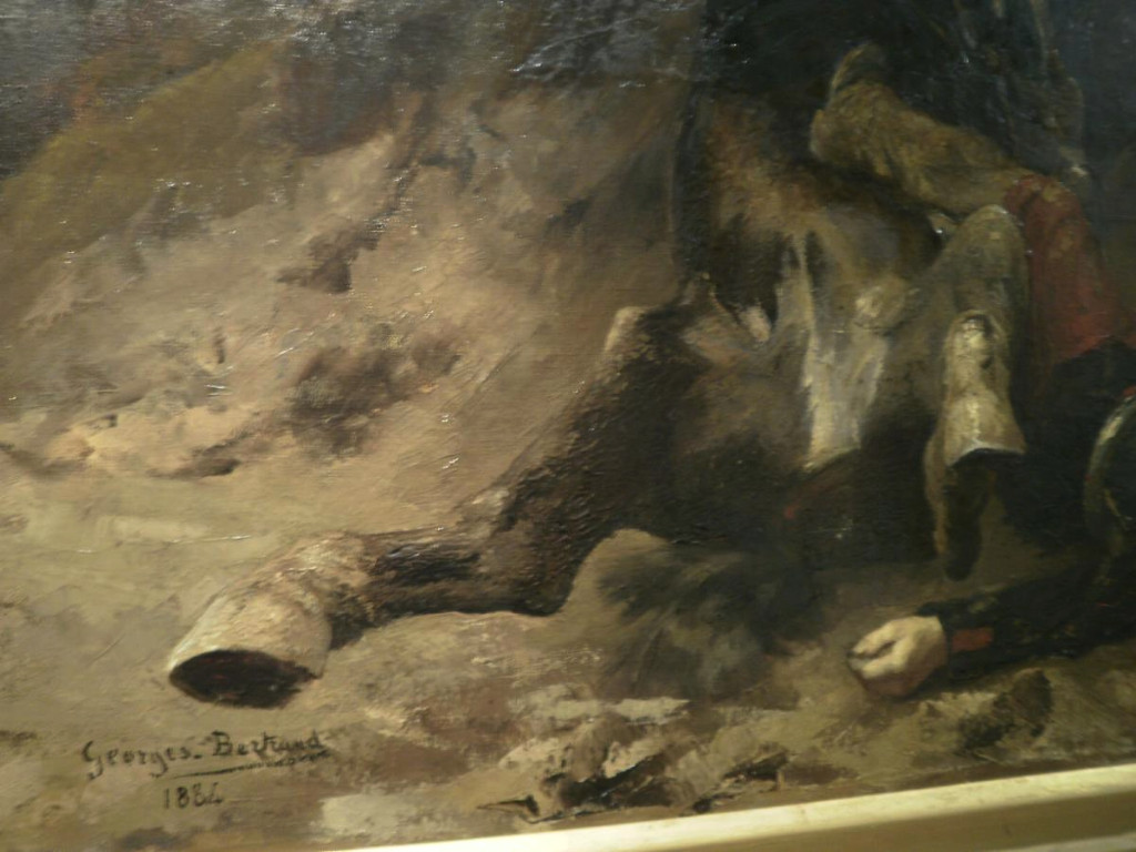 Tableau De Georges Bertrand – Le Soir A Reichsoffen - 1870-photo-1