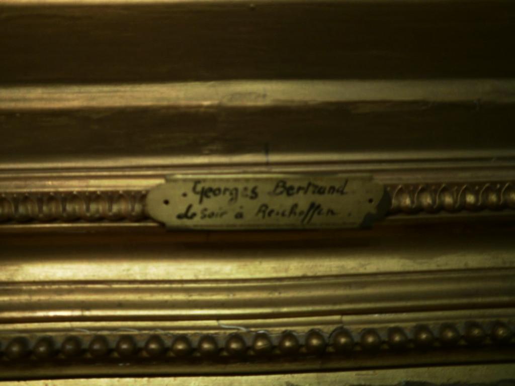 Tableau De Georges Bertrand – Le Soir A Reichsoffen - 1870-photo-4
