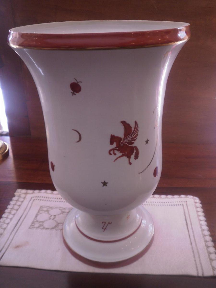 Vase Art Deco - Manufacture De Couleuvre- XXeme siecle
