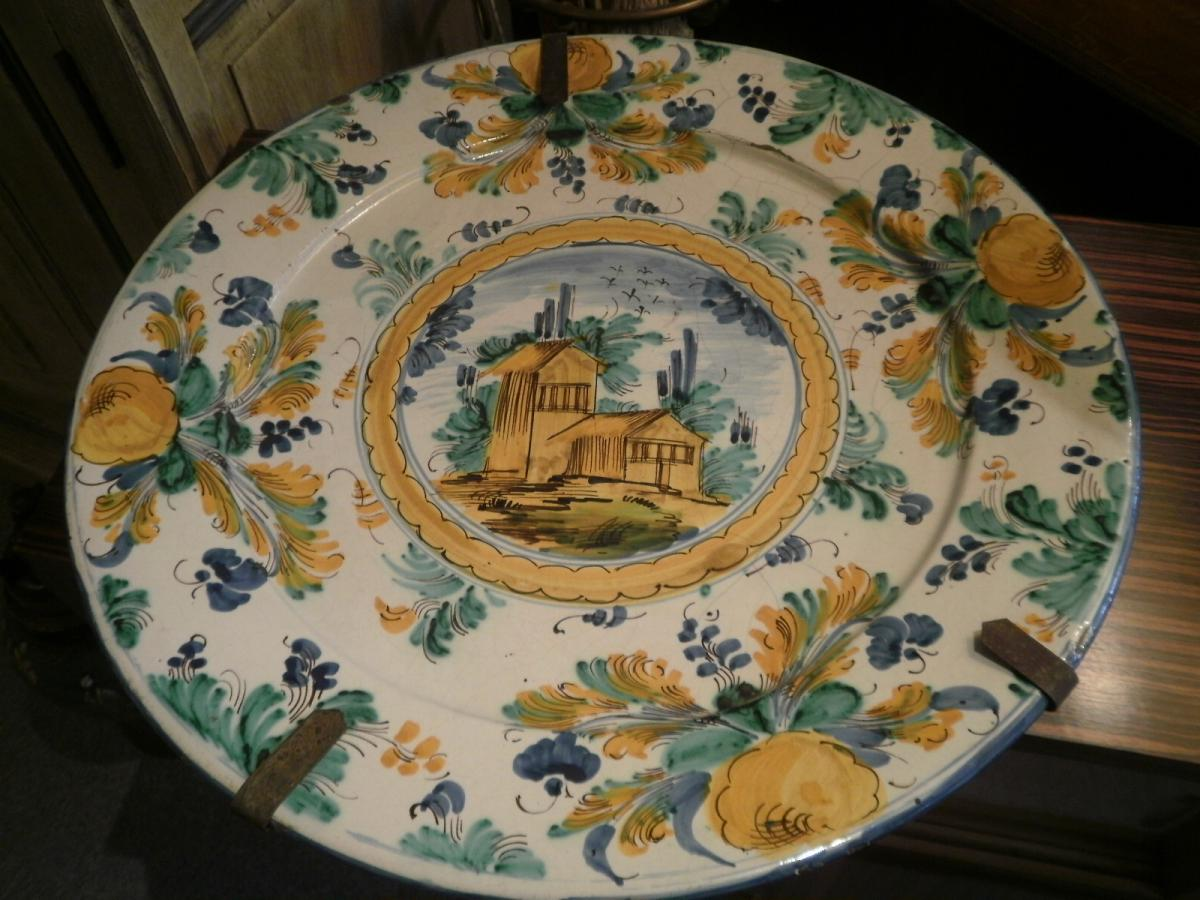 Faience Italienne - Plat Vietri - XVIIIème