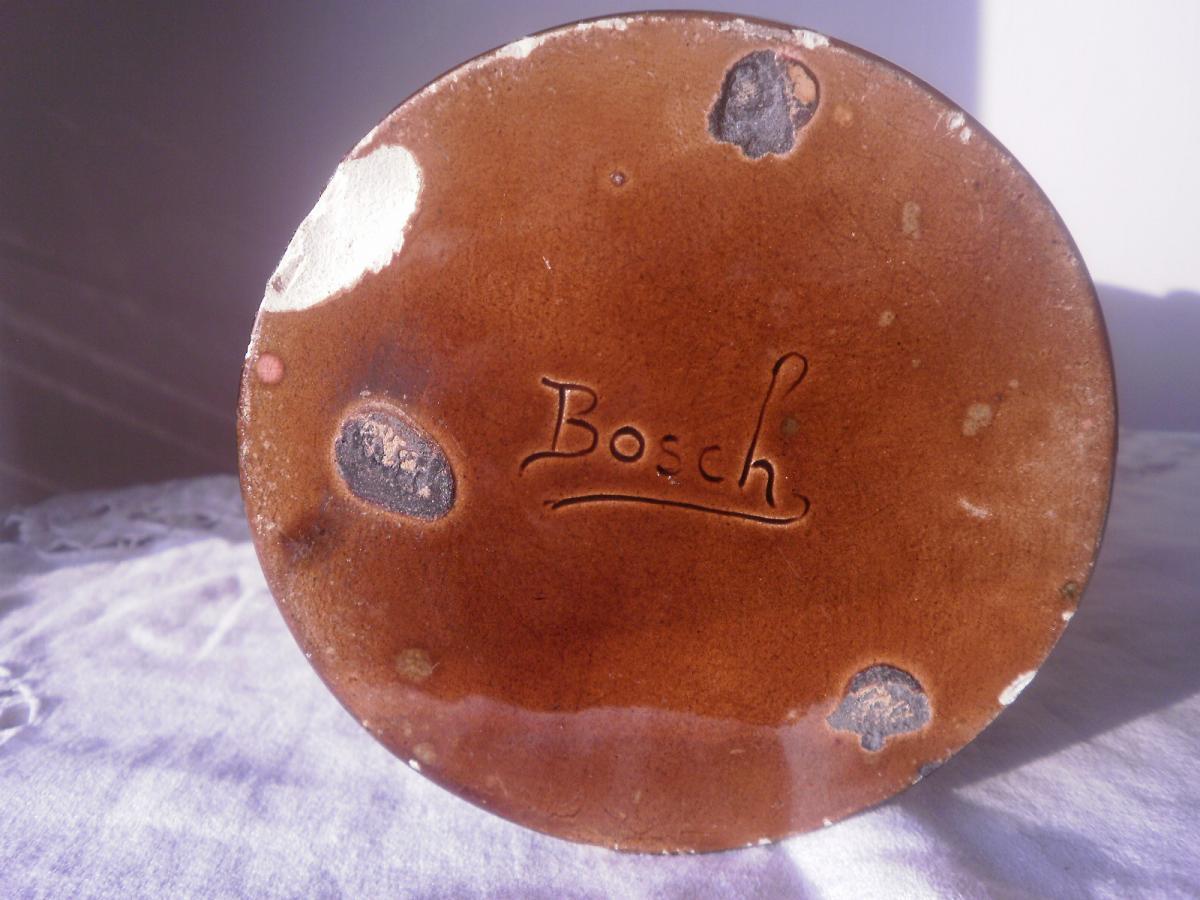 Vase Art Déco En Faience Vernissee – Bosch-photo-4