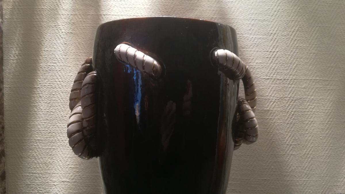 Vase Art Déco En Faience Vernissee – Bosch-photo-1