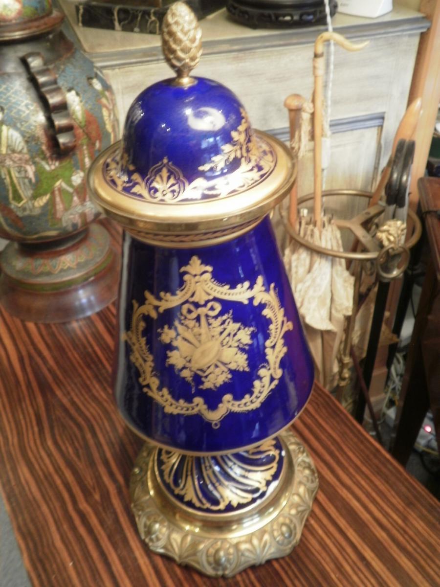 Porcelaine De Sevres - Vase Couvert-photo-4