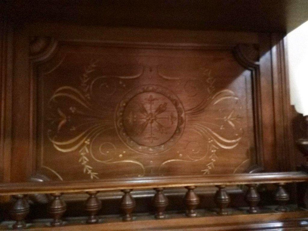 Cabinet Vitrine En Noyer – XXème-photo-6