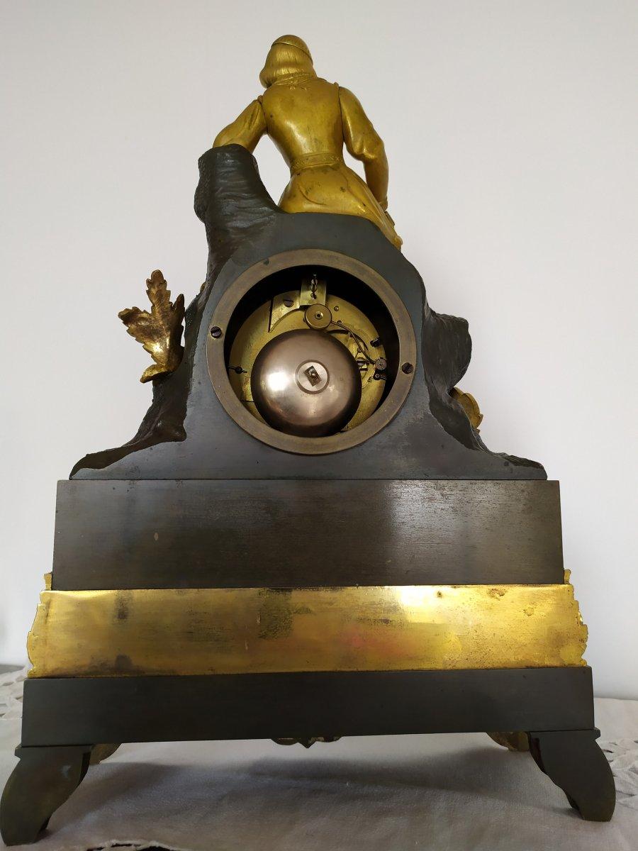 Pendule Restauration Bronze A Double Patine-photo-3