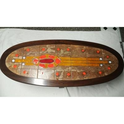 Table Basse  En Ceramique «raynaud» – Annees 60-photo-2